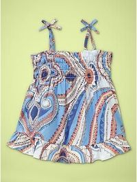 With a little blue ruffle diaper cover... so cute
