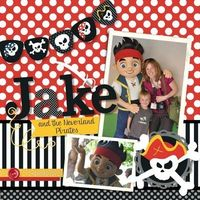 Digital Scrapbook Pirate Page