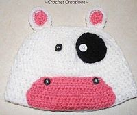 Crochet Creative Creations- Free Patterns and Instructions: Crochet Child Cow Hat