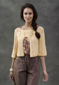 Knit pattern for cropped cardi