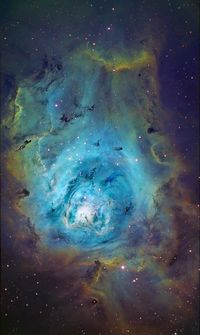 Lagoon Nebula. looks like angels.