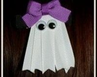 ghost ribbon hair clip doodlebuggy bows