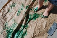 Foot Print Painting | Familylicious