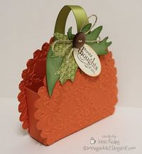 Sweet little embossed pumpkin basket