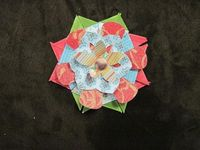 fast scrap paper flower, by meteechtap