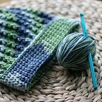An easy crocheted ribbed hat for donation to a local charity