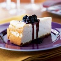 Vanilla Cheesecake with Cherry Topping   CookingLight.com