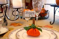 These little pumpkins are made from a Dollar Store blanket! They're a quick, no sew craft that you can whip up in no time. Filled with dry beans.