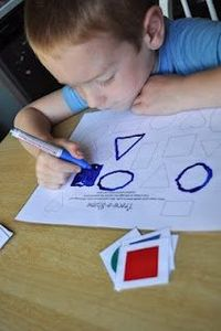 Trace-a-shape game (printables)