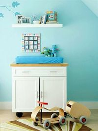 Quick Change - a kitchen island as a changing table