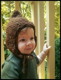 Ravelry: Woodland Elf Winter Hat Knitting Pattern pattern by Collette Grace And maybe this for his baby sister.