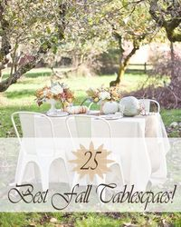 25 inspiring fall tablecapes