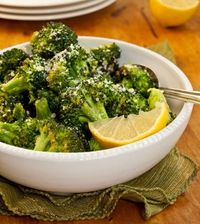 GARLICKY ROASTED BROCCOLI W/ PARMIGIANO-REGGIANO