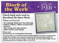 Spotlight's Block of the Week - free crochet patterns