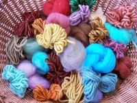 Awesome article on how to dye wool using food colours.