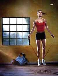 when You can't run, Jump! 10 min of jump rope is equivalent to running a mile in 8 min