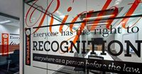 Australian Human Rights Commission by BrandCulture. Expressive typography applied to the walls.