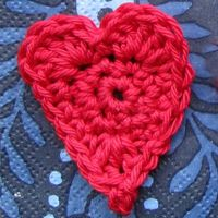 a crochet heart pattern
