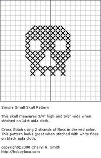 skull cross stitch pattern