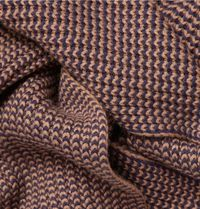 ribbed wool and cashmere scarf