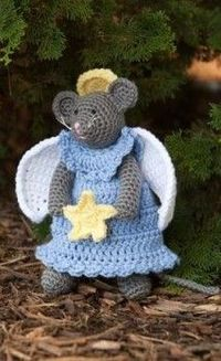 Crocheted Angel Mouse Pattern