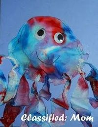 Create a tie-dye looking jellyfish kids craft out of very inexpensive, find-around-the-home/classroom items! You can incorporate learning about the letter J, as well as learning about the animal jellyfish.