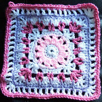 Multiple stitch granny square