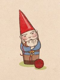Gnomes knit, too