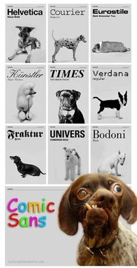 Dog-Typography //Precisely my conclusion about Comic Sans