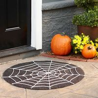 Greet guests this Halloween with this DIY spiderweb door mat. Instructions: http://www.bhg.com/halloween/outdoor-decorations/halloween-outdoor-makeover/?socsrc=bhgpin102912spiderwebdoormat