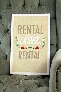 Rental Sweet Rental print