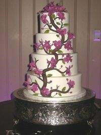beautiful orchid cake