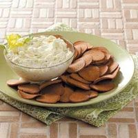 Cucumber Onion Dip - Even my six year old loves this! Great way to use some of those garden cucumbers!!