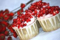 Pomegranate Green Tea Cupcakes... delightful mix of flavours and festive to boot!