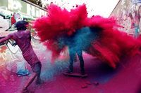 now that's what you call a paint fight...
