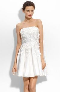 youthful and fun take on the short white dress