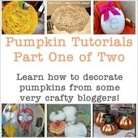 The Shed: Pumpkin Tutorials from Very Crafty Bloggers, Part One