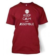 Keep Calm and Assemble Adult T shirt Inspired by The Avengers: Amazon.co.uk: Clothing