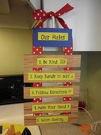 very cute classroom rules sign