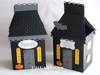Stampin' Up! Fancy Favor Box Kay Sha Haunted House Tutorial