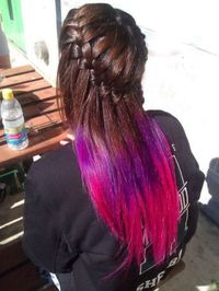 pretty, ombre hair.