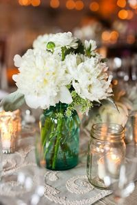 Love the flowers and candles together