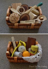 wooden basket items