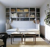 via Ele Decor love the book shelves