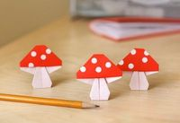 Origami mushrooms | How About Orange