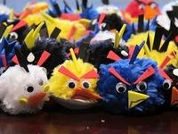angry birds pompoms