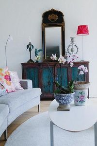 gorgeous painted console!!