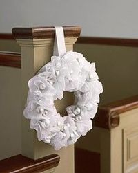 Great idea for pew markers for a wedding, or wreath for the door
