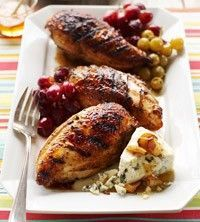Honey-Glazed Chicken with Roasted Grapes