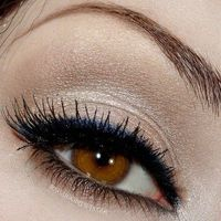 Lashes - Lashes - Lashes YES!!! neutral look with a pop of blue <3